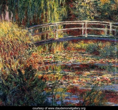 Monet The Water-Lily Pond, Symphony in Rose